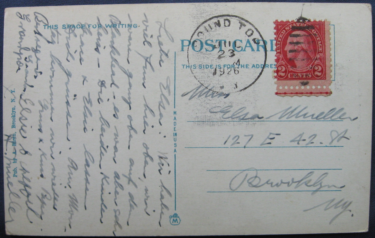 Biren, White Border Halftone Postcard, The Wittenberg, Catsk