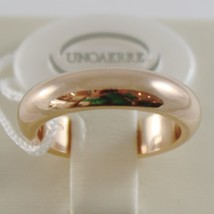 SOLID 18K YELLOW GOLD WEDDING BAND UNOAERRE RING 10 GRAMS MARRIAGE MADE IN ITALY image 1