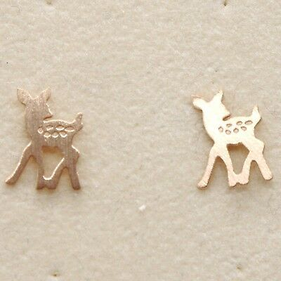 Silver Earrings 925 Laminated in Rose Gold le Favole with Fawn Puppy