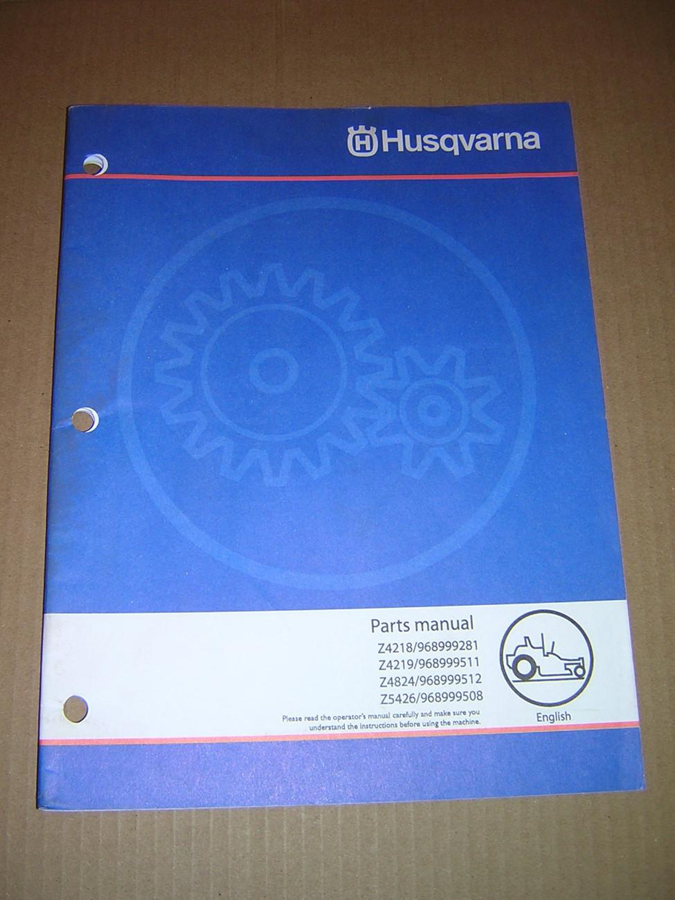 husqvarna zero turn parts manual