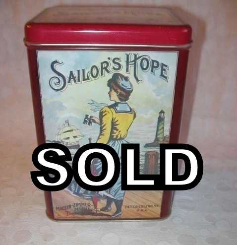 Maclin Zimmer McGill Sailor's Hope Large Tobacco Tin