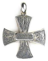 Gerochristo 5337  -  Solid 18K Gold & Silver Medieval Maltese Cross Pendant  image 3