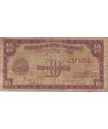PHILIPPINE Paper Money: CENTRAL BANK PHILS. 1949 10 centavos - $2.95
