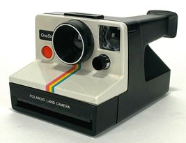 Vtg Polaroid One Step Land Camera-Instant Photography-White, Rainbow - $25.23