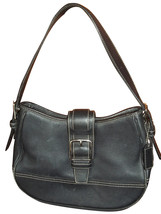 Coach Black Leather Small Hobo Bag Handbag 7584 - $37.29 CAD