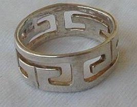 silver geometric ring - $16.00