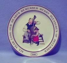 Hallmark Norman Rockwell Merry Pleasures Collector's Plate 1981 - $8.99