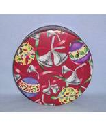 Hershey Kisses Round Cookie Candy Tin 1996 Ribbons Ornaments - $5.99