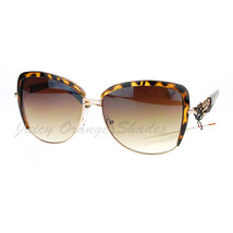 Vintage Designer Oversized Square Butterfly Frame Womens Sunglasses - $9.85+