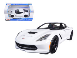 2014 Chevrolet Corvette C7 Stingray White 1/24 Diecast Model Car by Maisto - $31.18
