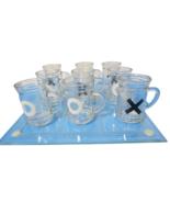 Tic Tac Toe Shot Glass Drinking Game Set W Mini Beer Mugs Table Top Game... - $14.80