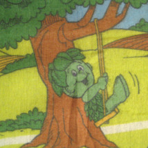 Sprout Jolly Green Giant Throw Blanket Fleece 70 Inch Vintage 80s Advert... - $83.16