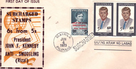 PHILIPPINE 1st Day Issue JOHN F KENNEDY ANTI-SMUG-MARCOS - $4.95
