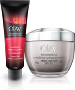 Olay Regenerist  Anti Ageing Skin Cream, 50gm with Face Wash Cleanser, 1... - $28.79