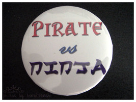 Button - Pirate vs Ninja - $2.00