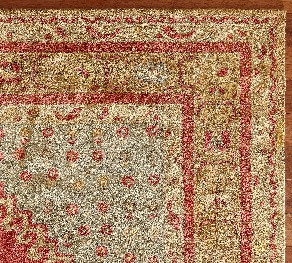 New pottery barn handmade persian bindu persian style area for Carpets and area rugs