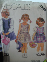 Pattern 2590 Child's sz 4, 5, 6 Jumper or Sundress and Blouse - $5.00