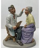 Vintage Porcelain Hand Painted Physician-Patient Check-Up Figurine Seniors - $15.79