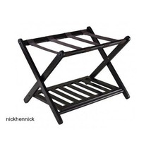 Luggage Rack Stand Folding Wooden Organizer Travel Closet Shoe Suitcase ... - $52.92