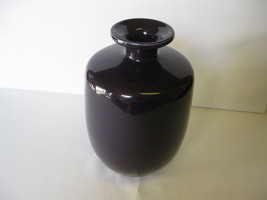 "Haeger Pottery Purple 10 1/2"" Short Neck Vase  ... - $44.99"