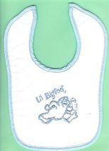 5 Baby Bibs Blue Infant Cotton Terry Towel Apron Bigfoot RV Souvenir Sas... - $7.52