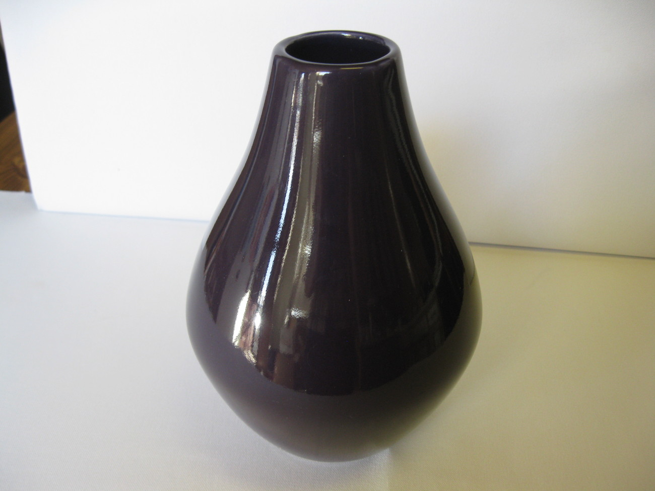 "Haeger Pottery 10"" Purple Vase Bulb Bottom New USA"