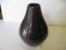 "Haeger Pottery 10"" Purple Vase Bulb Bottom New USA - $39.99"