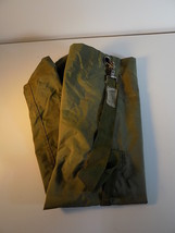 """LARGE MILITARY STYLE O.D. GREEN LAUNDRY BAG 36"""" T X 12"""" WIDE DRAWSTRING TOP - $11.87"""