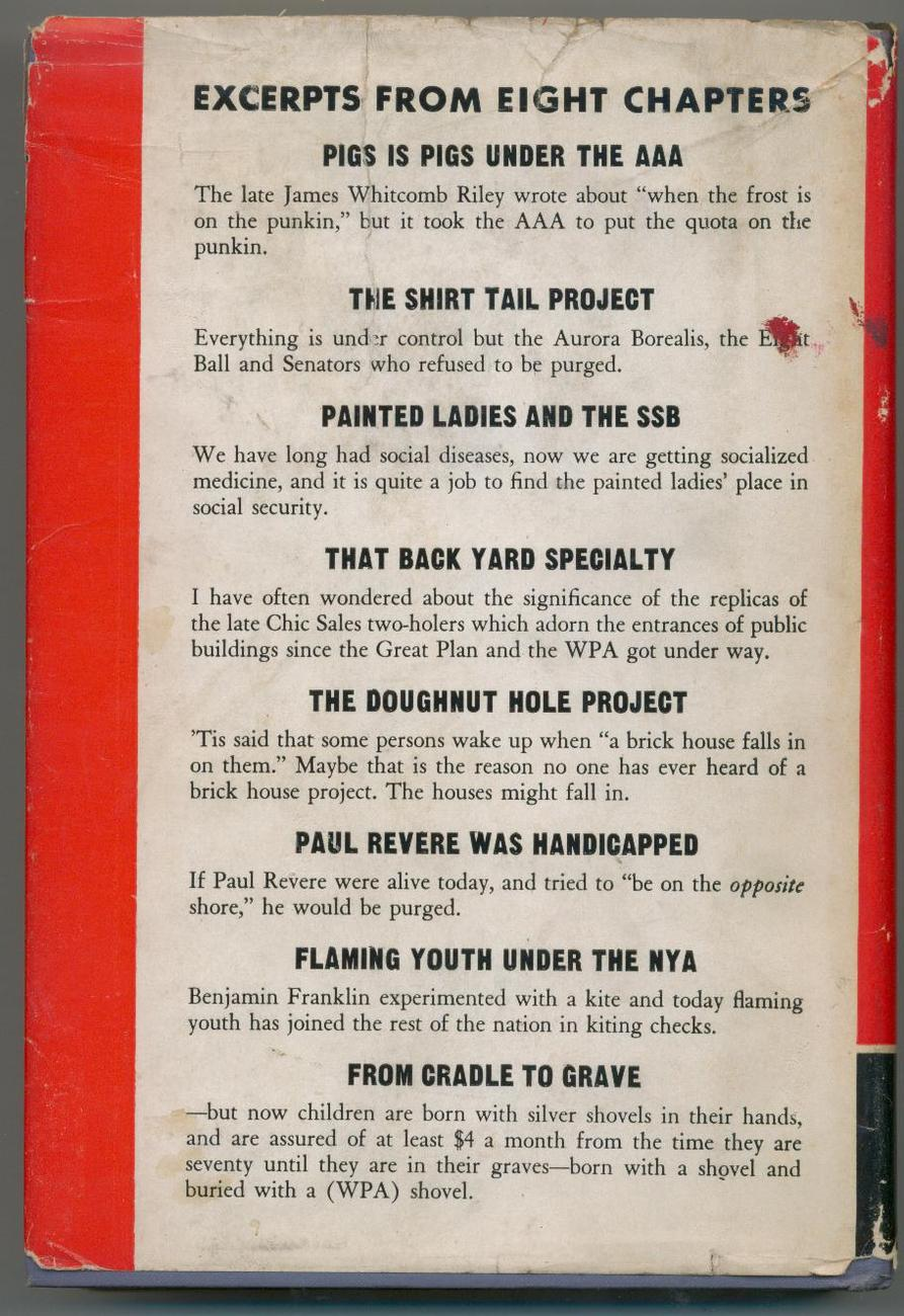 FROM ALPHABET SOUP TO W.P.A. NUTS - 1939 - satire - SCARCE