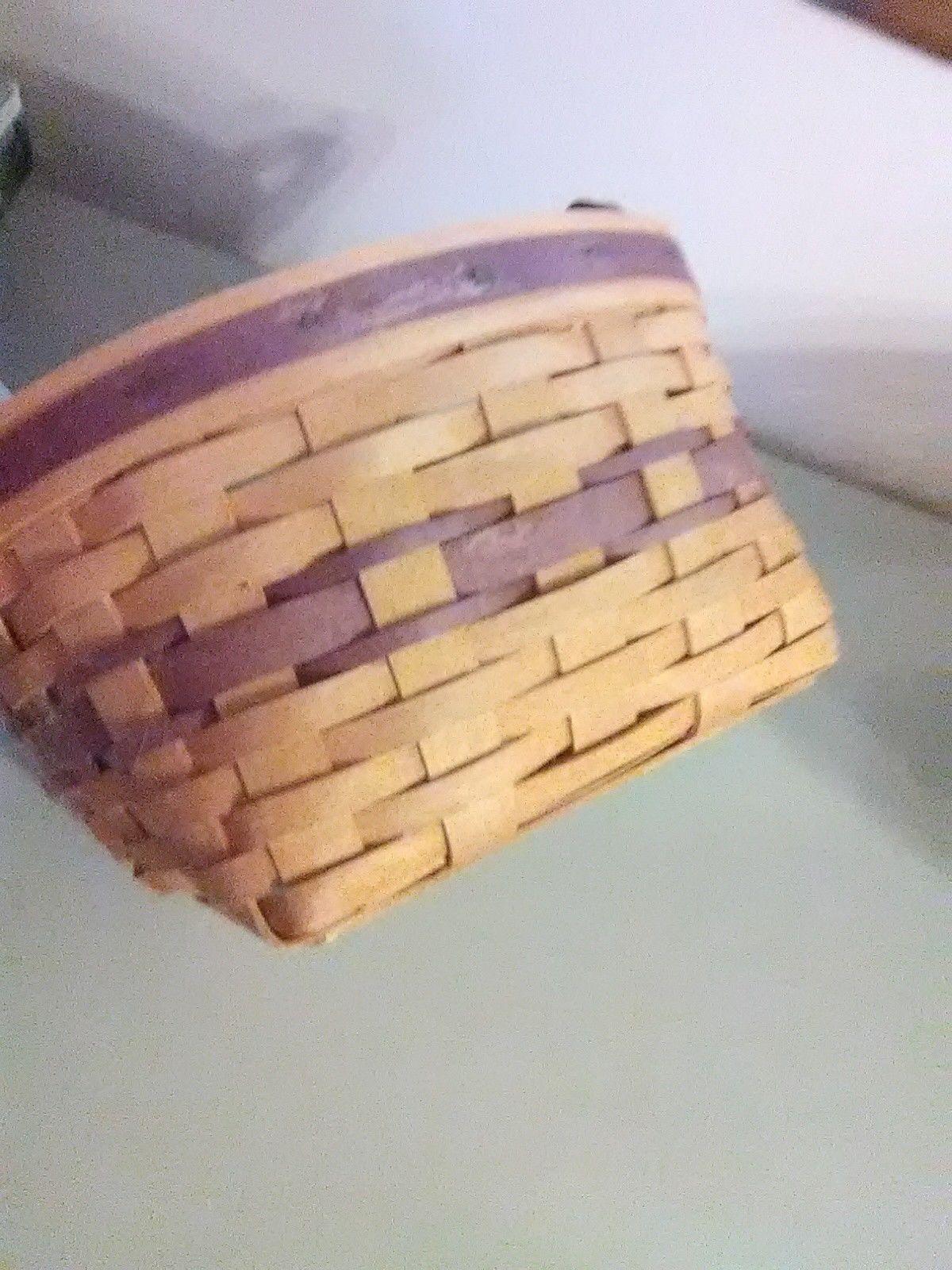 Longaberger May Basket - 1997 - Leather Strap Handles image 3
