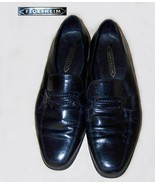 Mens Florsheim black leather loafers 12 E - $20.00