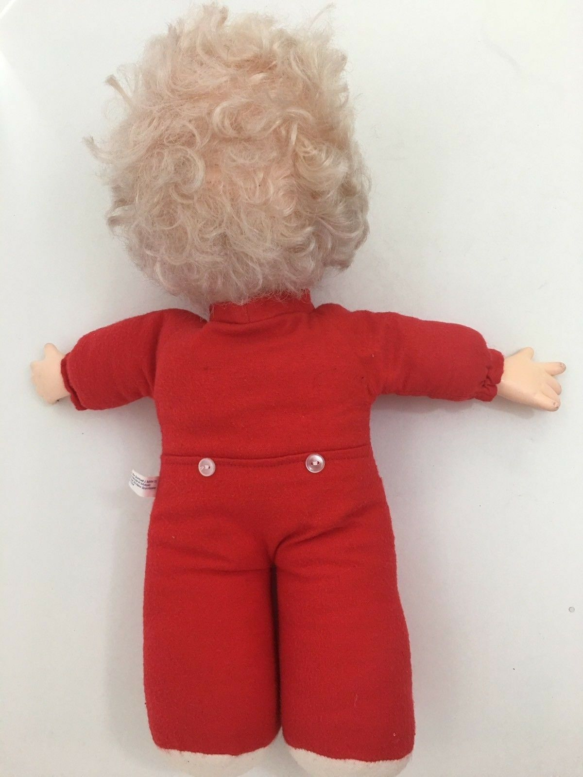 """CHRISTMAS PRECIOUS MOMENTS RED 16"""" DOLL Vintage 1993"""
