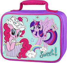 MY LITTLE PONY TWILIGHT SPARKLE PINKIE PIE Thermos Lead-Free Lunch Tote ... - $22.87