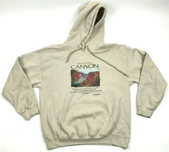 NEW Canyon Advice Mens Tan Hoodie Vintage Wash Pullover Size L Hooded Sweatshirt - $27.33