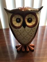 Ceramic Bobble Owl, Bird Decor, Figurine, Colle... - $46.74