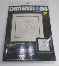 """Dimensions Candlewicking """"Teddy Bear Patchwork"""" Needlework Embroidery 19... - $18.99"""
