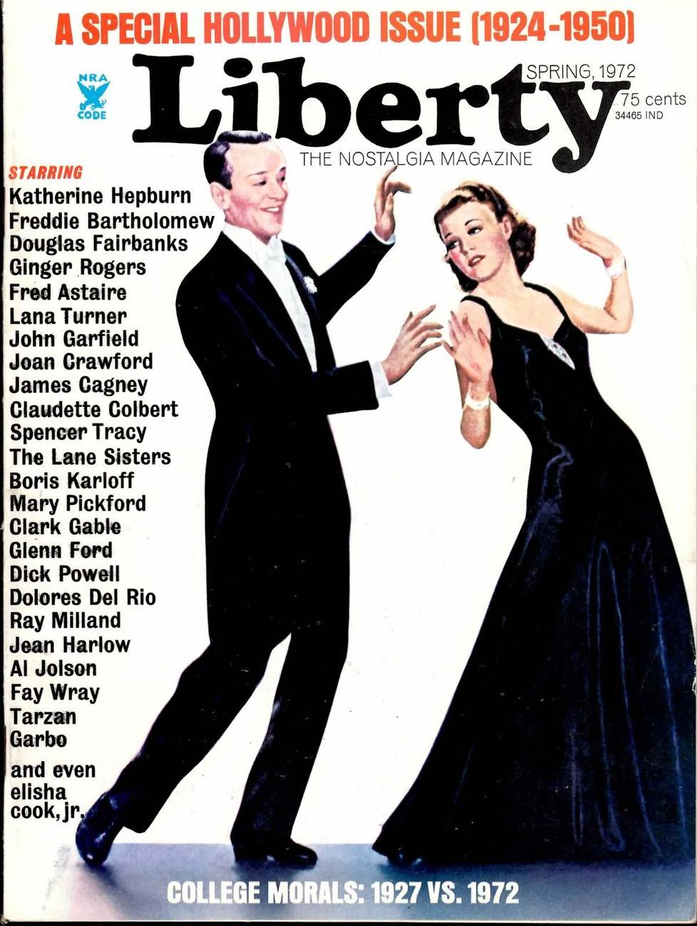 LIBERTY THE NOSTALGIA MAGAZINE NO 04 SPRING 1972 VF RAR