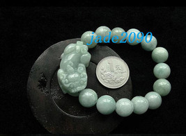 Free Shipping - good luck Amulet natural green jade '' PI YAO'' Prayer Beads cha - $24.99