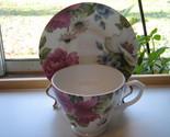 Sadler English Bone China Cup & Saucer - Large Colorful Floral Pattern