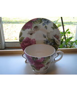 Sadler English Bone China Cup & Saucer - Large Colorful Floral Pattern - $20.00