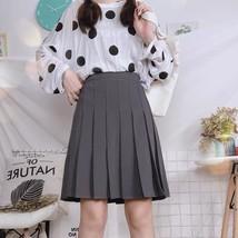 Women Girl Black Pleated Midi Skirt Outfit Plus Size Black Tennis Skirt US0-US16 image 9