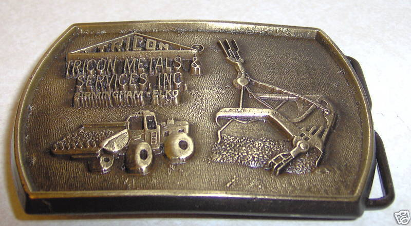 Jadco Tricon Metals & Services Brass Belt Buckle