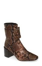Jeffrey Campbell Godard Brown Snake/Cheetah Bootie Size 7 - $198.00