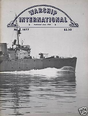 WARSHIP INTERNATIONAL MAGAZINE VOL 14 NO 3 1977 VF RARE