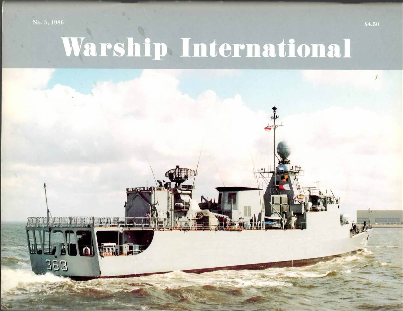 WARSHIP INTERNATIONAL MAGAZINE VOL 23 NO 3 1986 VF RARE