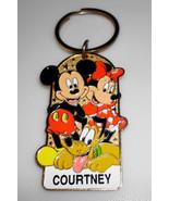 Disneyland Resort Mickey Minnie Pluto Courtney Keychain - $6.89