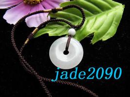 Free Shipping - Grade AAA Natural white jade Blessing charm jade Pendant... - $19.99