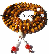 Free Shipping - Tibetan Tiger's  Eye gemstone meditation yoga 108 Prayer Beads M - $32.00