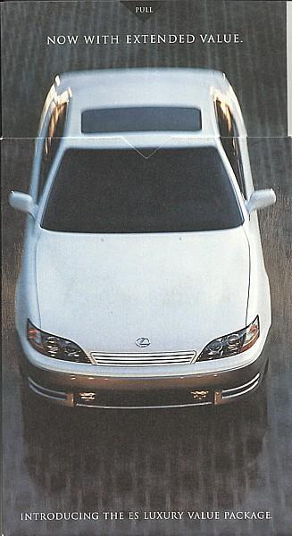 1996 Lexus ES 300 LUXURY VALUE PACKAGE brochure catalog US