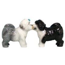 NEW Mwah! Salt Pepper Shakers Old English Sheepdogs Retired Magnetic Fig... - $10.28